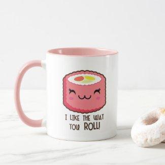 Sushi Roll Emoji Mug