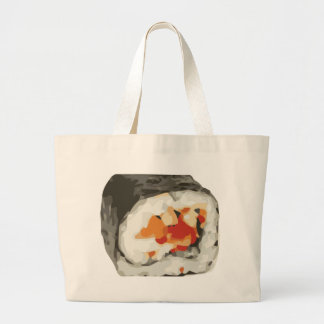 Sushi Roll Japanese Food Lover Large Tote Bag