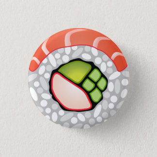 Sushi Roll Pinback Button