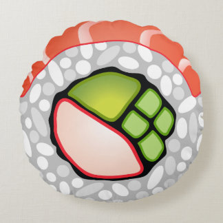 Sushi Roll Round Pillow