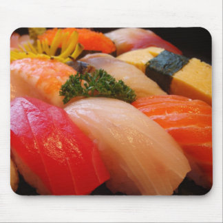 Sushi roll sashimi top foodie chef hipster photo mouse pad