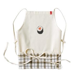 Sushi roll zazzle HEART apron