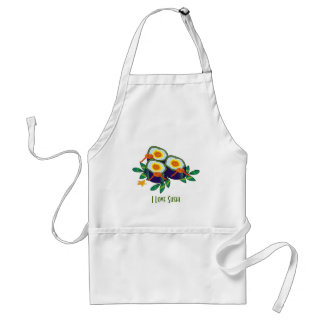 Sushi Rolls  Apron - Customizable - Add your Text