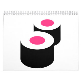 Sushi rolls calendar
