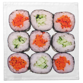 Sushi Rolls Japanese Food Template Cloth Napkin