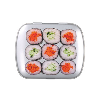 Sushi Rolls Japanese Food Template Jelly Belly Tin