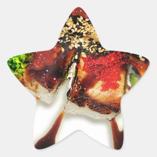 Sushi Rolls Sesame Ginger Wasabi Japan Kitchen Star Sticker