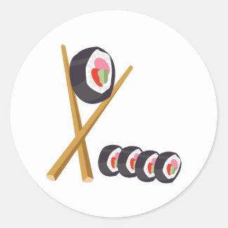 Sushi Rolls Classic Round Sticker