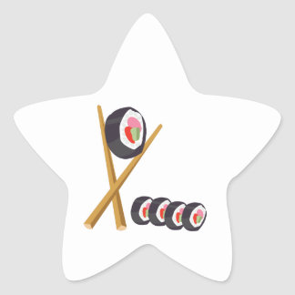 Sushi Rolls Star Sticker