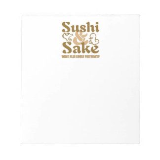SUSHI & SAKE SCRATCH PADS