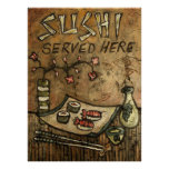 Sushi Served Here Poster