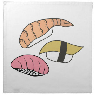 Sushi Servilleta Imprimida