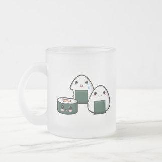 Sushi Set Frosted Glass Coffee Mug