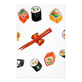 Sushi Set Watercolor2 Stationery