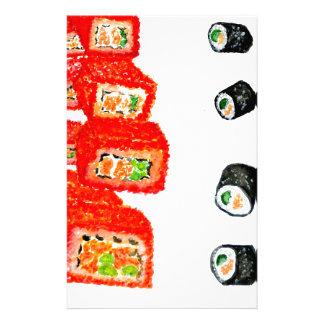 Sushi Set Watercolor3 Stationery