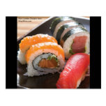Sushi & Shashami Mix Print On Gifts Tees & Cards Post Card