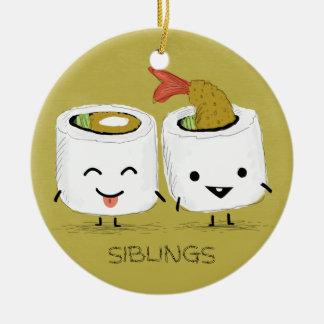 Sushi Siblings Ceramic Ornament