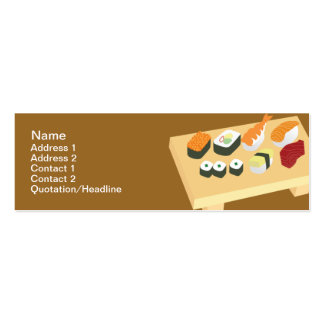 Sushi - Skinny Double-Sided Mini Business Cards (Pack Of 20)