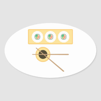 Sushi Soy Sauce Oval Stickers