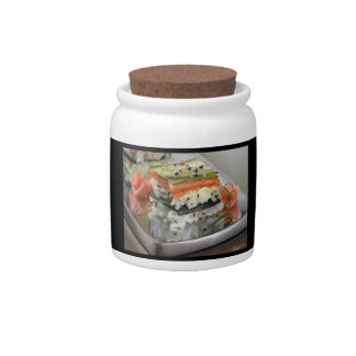 Sushi Squares Cookie Jar by Rick London Candy Dish