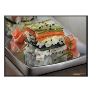 Sushi Squares Poster by Rick London