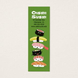 Sushi Stack - Fun Kawaii Sushi Friends Mini Business Card