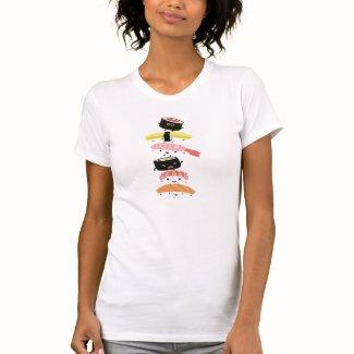Sushi Stack - Fun Tower of Kawaii Sushi Friends T-shirt
