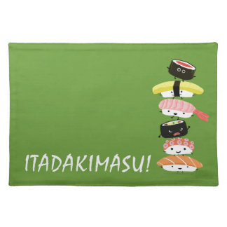 Sushi Stack - Itadakimasu! - Kawaii Sushi Friends Cloth Placemat