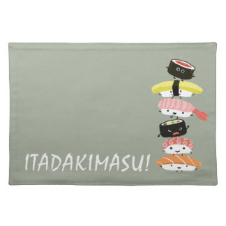 Sushi Stack - Itadakimasu! - Kawaii Sushi Friends Placemat