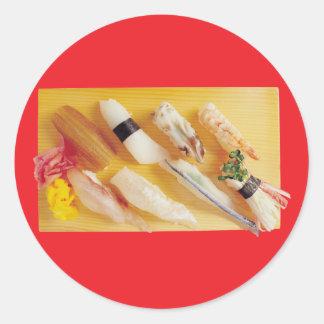 Sushi Round Stickers