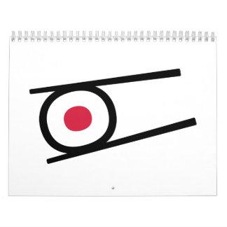 Sushi sticks wall calendar