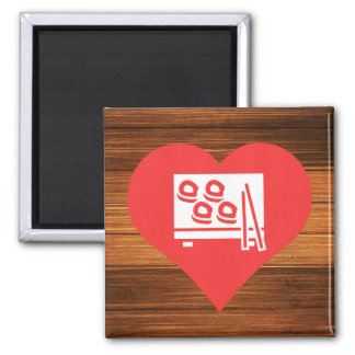 sushi Symbol 2 Inch Square Magnet