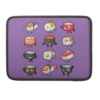 Sushi T-Shirt: Cute & Moody Sushi Rolls Sleeve For MacBooks