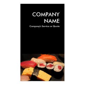 sushi tarjetas de visita