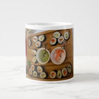 sushi taza de café grande