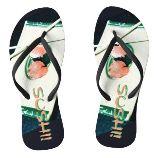 SUSHI! time for your flip flops! Flip Flops