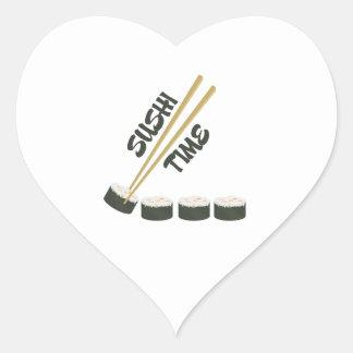 Sushi Time Heart Sticker