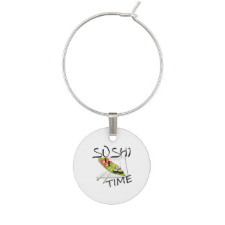Sushi Time Wine Glass Charm