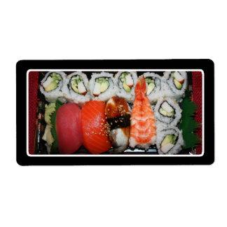 Sushi Tray Custom Shipping Labels