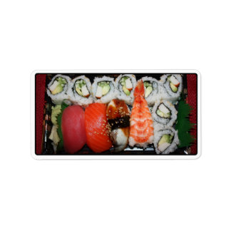 Sushi Tray Custom Address Label
