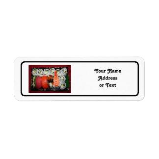 Sushi Tray Custom Return Address Label