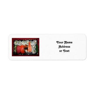 Sushi Tray Return Address Labels