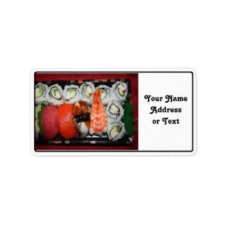 Sushi Tray Address Label