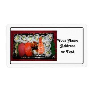 Sushi Tray Custom Shipping Label