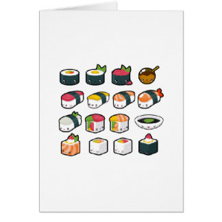 Sushi Variety Greeting Card