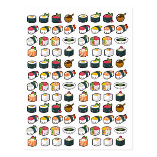 Sushi Variety Postcard