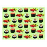 Sushi verde de Wasabi Postal