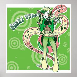 Sushi Vibe Poster Print
