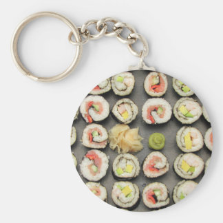 Sushi With Wasabi And Ginger Key Chains