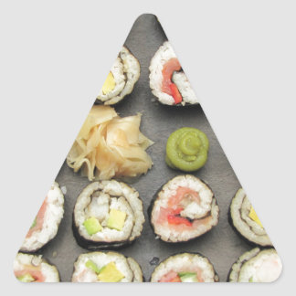 Sushi With Wasabi And Ginger Stickers